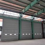 Stacking overhead door